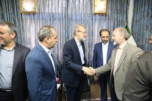 دیدار استاندار قم با رئیس مجلس شورای اسلامی