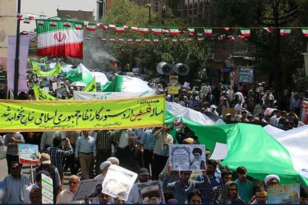 راهپیمایی دشمنشکن مردم قم در روز جهانی قدس آغاز شد