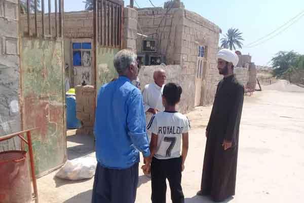توزیع سبد غذایی و بهداشتی در روستاهای سیل زده شادگان خوزستان