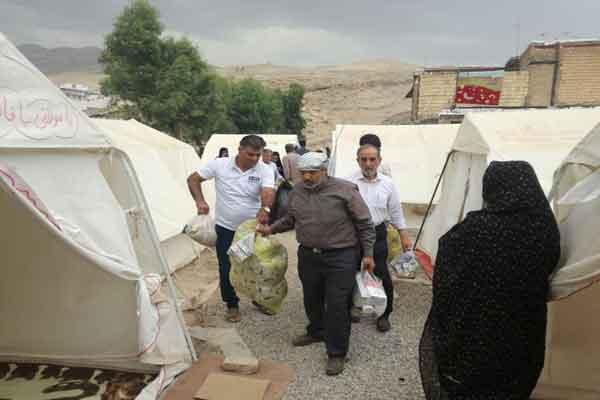اطعام 10 هزار نفری و کمک رسانی به سیلزدگان لرستان