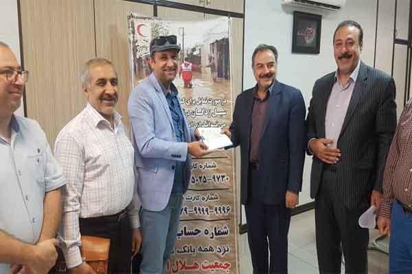 کمک 42 میلیون تومانی انجمن دندانپزشکی ایران شعبه قم به سیل زدگان