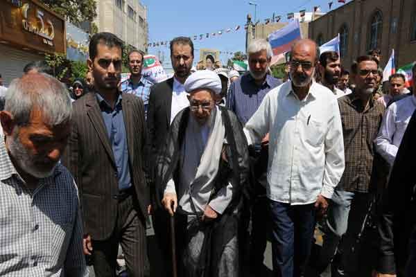 تصاویر راهپیمایی حماسی مردم قم در روز قدس