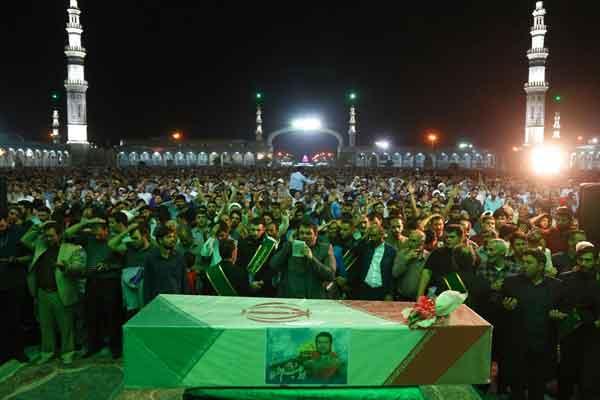 مراسم وداع با پیکر شهید «عُشریه» شهید مدافع حرم