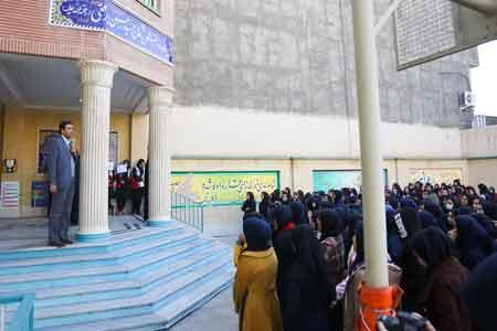 مانور سراسری زلزله در مدارس استان قم برگزار شد