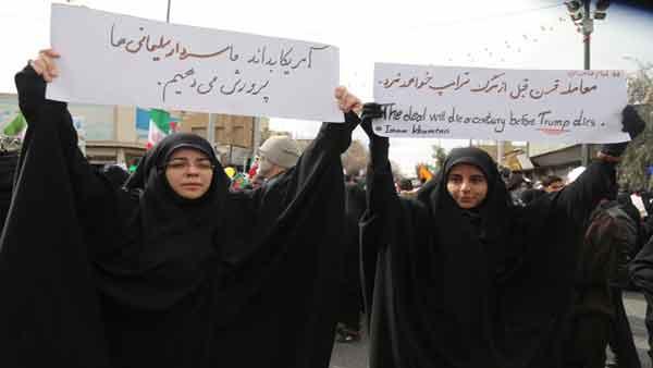 دست نوشه ها،شعار ها و تصاویر مردم قم در راهپیمایی 22 بهمن
