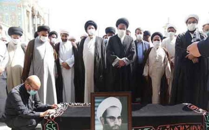 پیکر همسر شهید اوسطی در گلزار شهدای قم به خاک سپرده شد