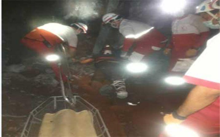 مانور فرضی ریزش معدن منگنز در روستای ونارچ برگزار شد